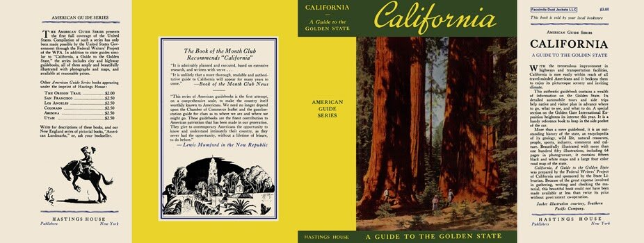 Cover image of the WPA era original California - A Guide to the Golden State, created as part of the Federal Writer's Project